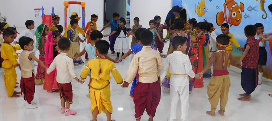 Dahihandi Celebration in Prakash Memorial School