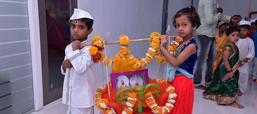 Ekadashi Palakhi Celebration in Prakash Memorial School Pune, Wagholi