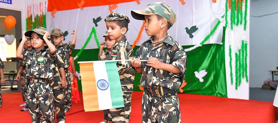 Independence Day Celebration Prakash Memorial SChool Pune,Wagholi