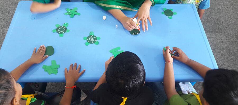 Hand Craft Activity in Prakash Memorial School