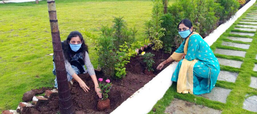 Tree Plantation at Prakash memorial School Pune,Wagholi